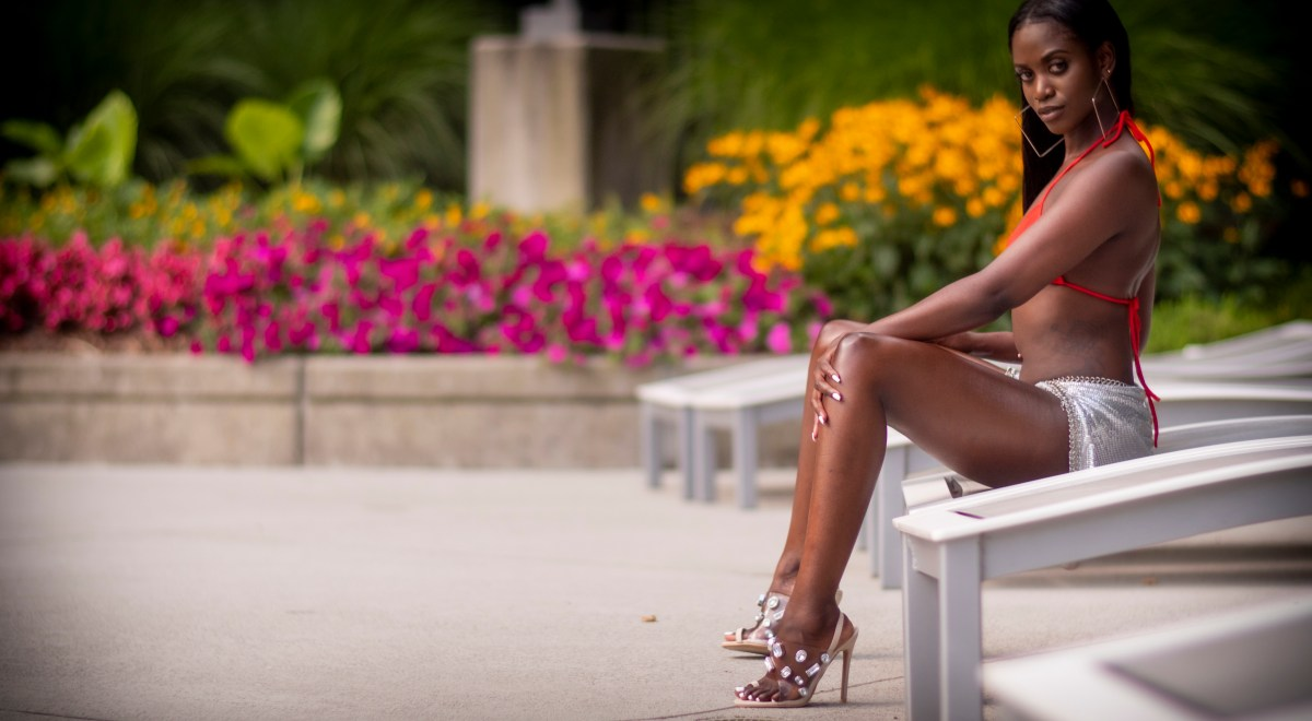 Bikini and heels