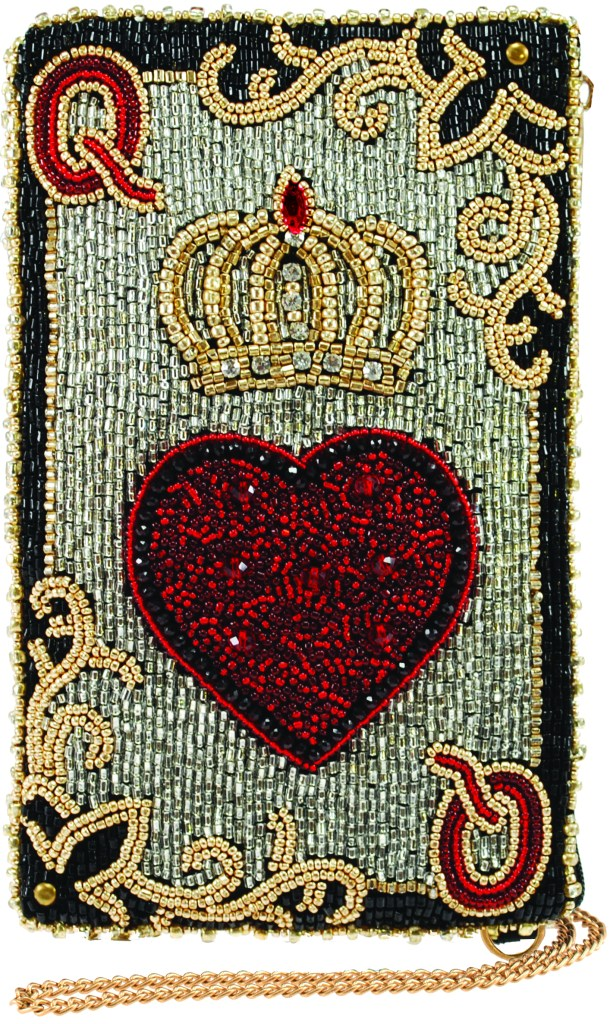 Mary Frances queen of hearts phone bag