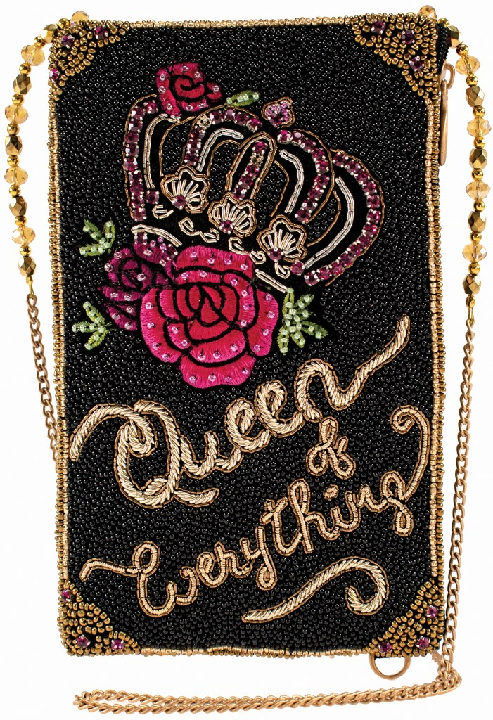 Mary Frances queen of everything phone bag
