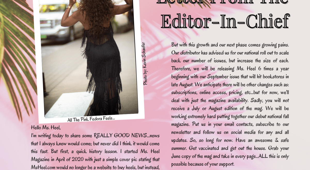 Letter from Editor-In-Chief of Ms. Heel Magazine