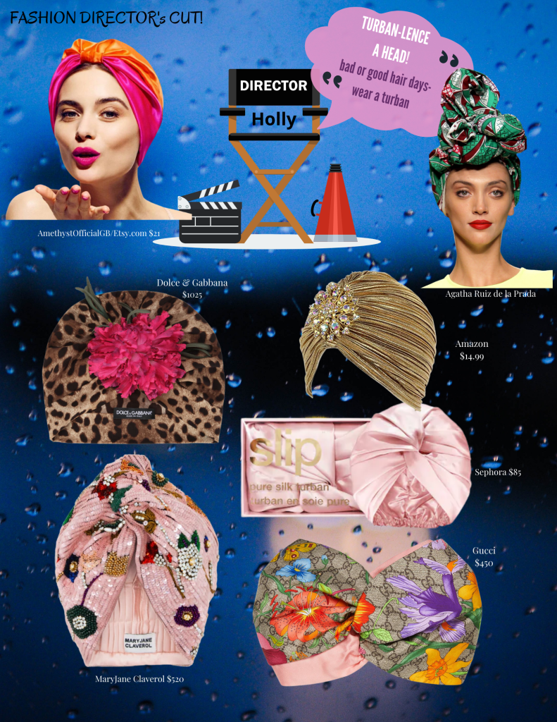 Designer Turbans by Dolce & Gabbana, Gucci and Mary Jane Claverol.