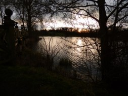 Sun setting over one of the lakes