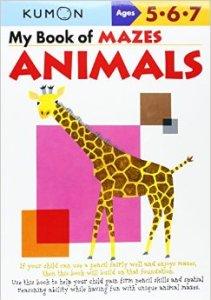 KUMON_5-6-7_years_My Book of Mazes_Animals