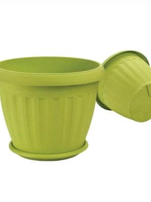 حوض بلاستيكي مستدير مزخرف