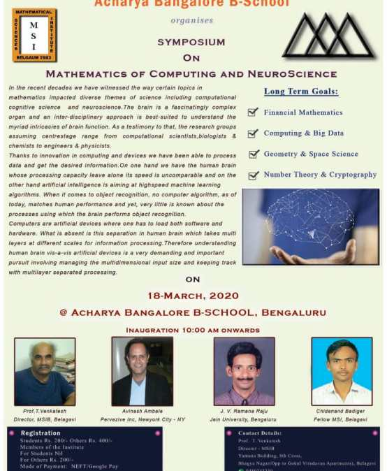 Symposium on Mathematics of Computing and Neuroscience