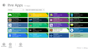 my apps Windows Store
