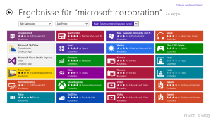Search all apps by Microsoft