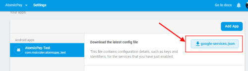 Firebase: download google-services.json file