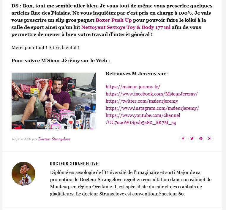 INTERVIEW TESTEUR DE SEXTOYS HOMME