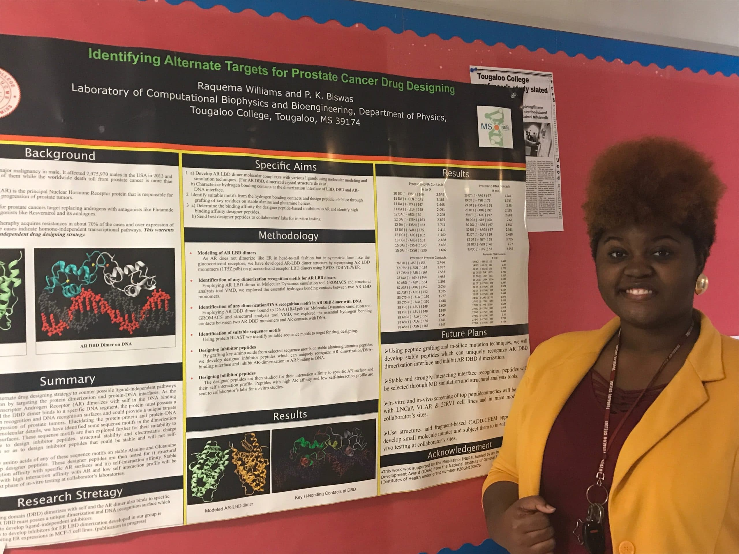 Catching up with 2014 Mississippi INBRE Research Scholar, Raquema Williams