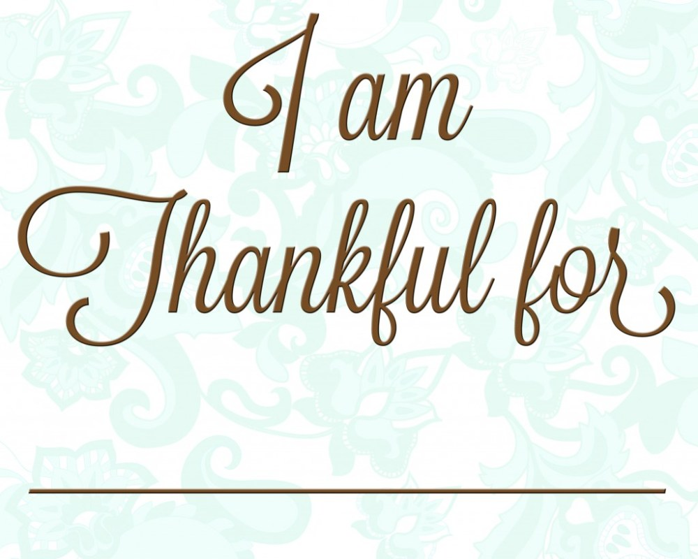 What I am Thankful for~ (1/6)