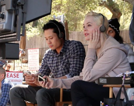 """Rose McGowan on the set of """"Dawn"""""""