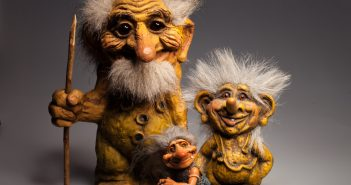 statuettes goblins troll symbols Norway