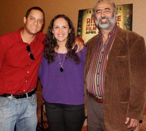 Writer/Director Ramon Hamilton and Lead Actress Denisse Bon with Riverside International Film Festival President Harki Dhillon
