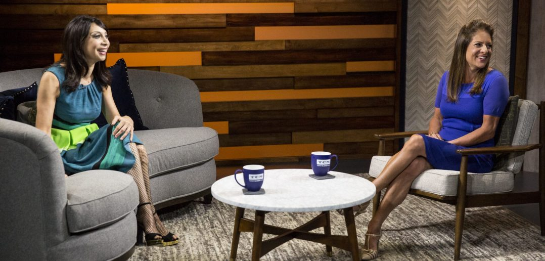 Host Illeana Douglas talking with President of Women in Film Los Angeles Cathy Schulman. Courtesy of TCM.