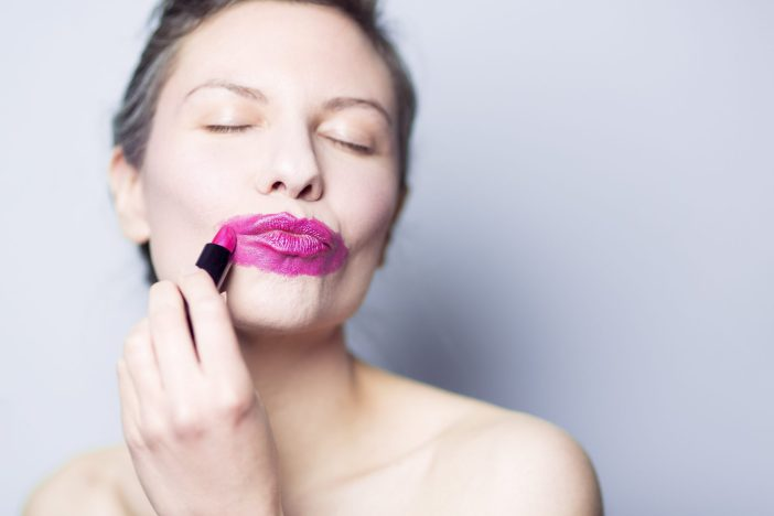 Lady w_ Lipstick