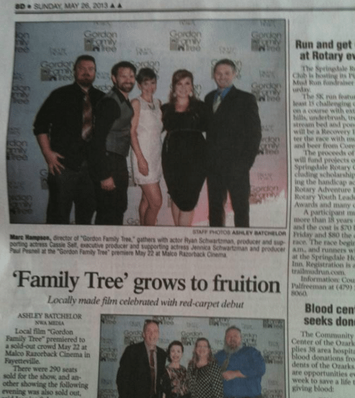 Newspaper Clipping of Red Carpet Premiere