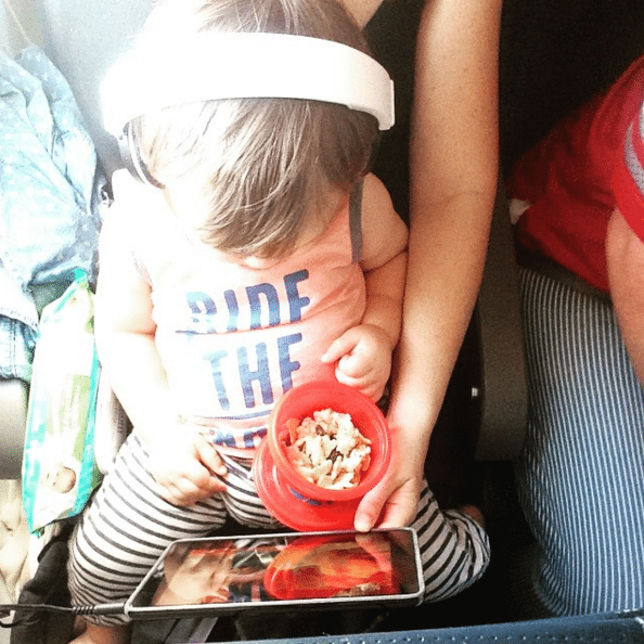 Flying in style, toddler heaven - @JennicaRenee Instagram