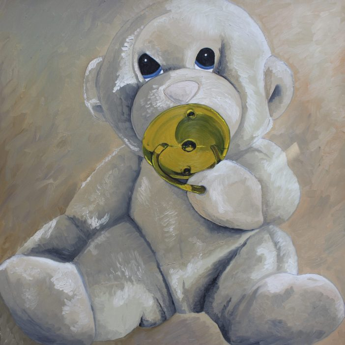 "Chee Chee The Monkey,"" Oil on Canvas, by @JennicaRenee – Hanging in the nursery"