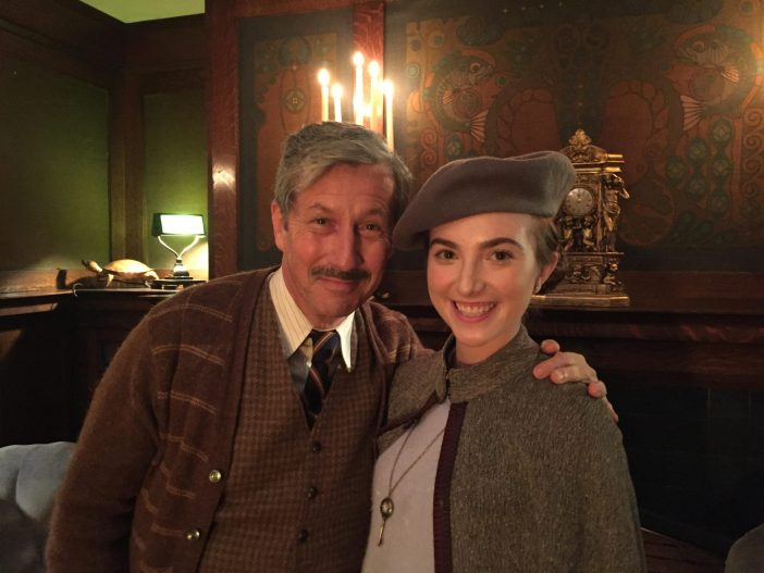 Charles Shaughnessy and Rose Liston as Christopher Plover and Jane Chatwin