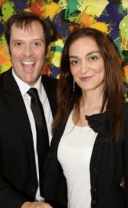 Nadia with celebrated actor Ford Austin at Artists for Trauma event. Photo courtesy of Kevin Boot Photography