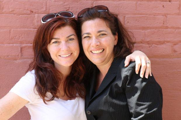 (My sister Andrea and I. We have written numerous scripts together.)