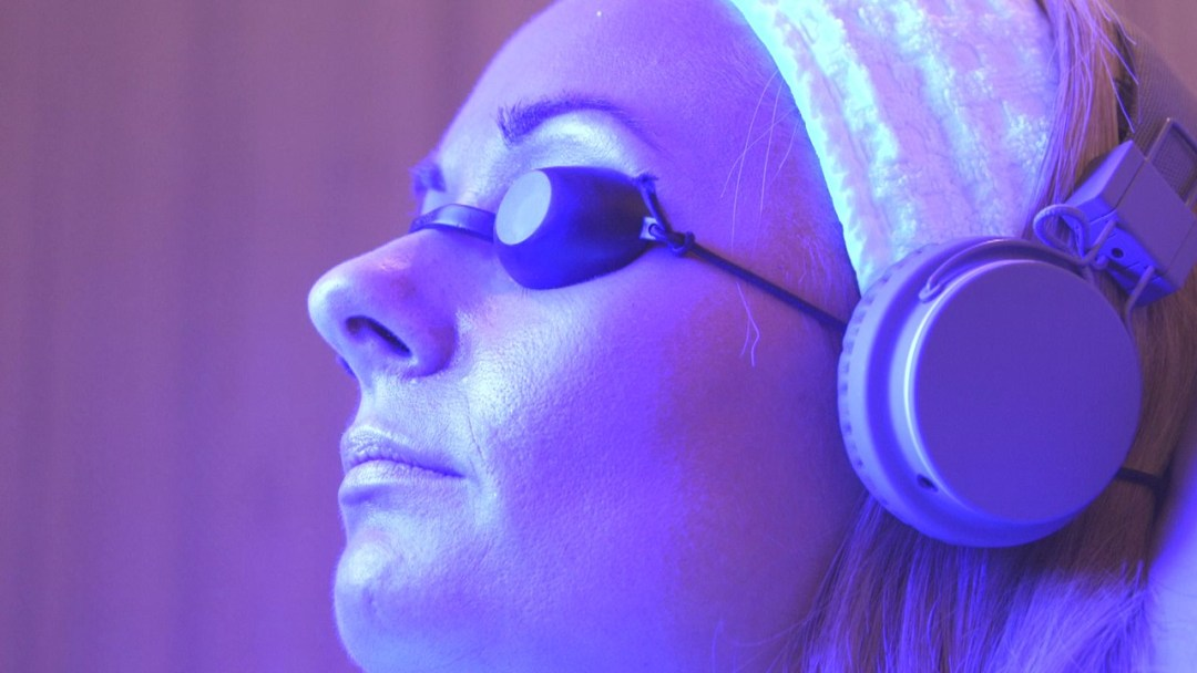 Picture of person having a salon light session. Everything I Have Learnt About LED Laser Facials.