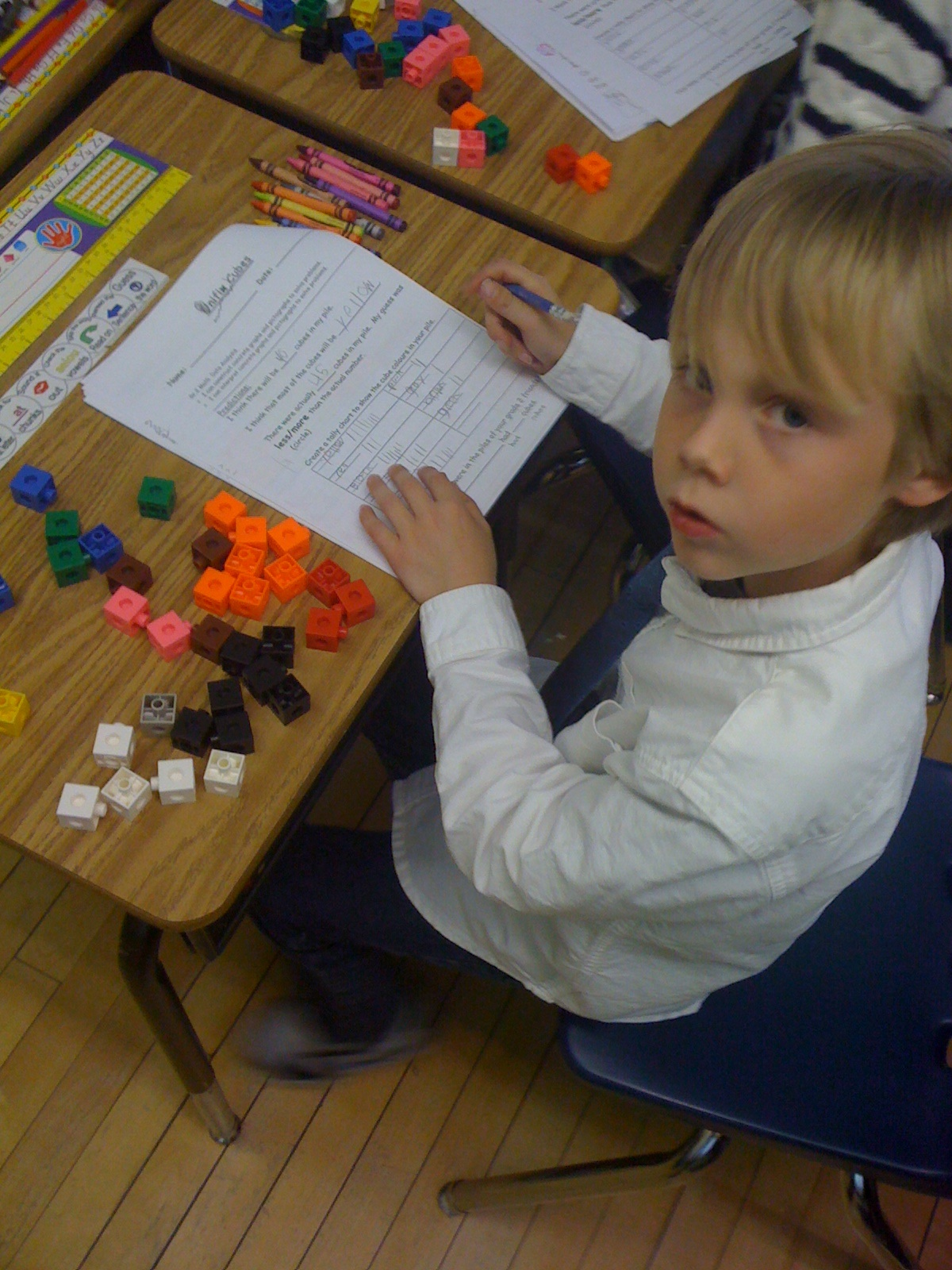Unifix Cube Graphing And Problem Solving