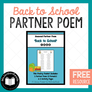Back To School Poems 7