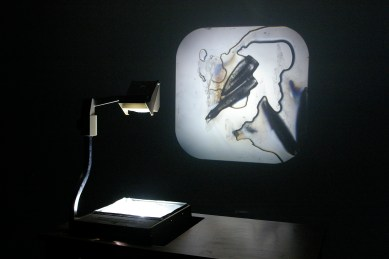 The Perfect Crime, Katie Jacobs, ice, light, overhead projector