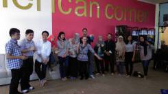 Chillin' with all the cool kids at AmCor (American Corner) a couple weeks ago.