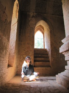 """Meditating Tourist at Temple #744"""