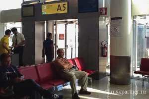 Опоздала на самолет