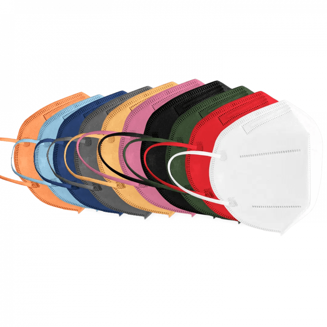 FFP2 Atemschutzmasken farblich sortiert