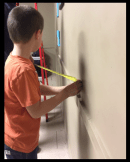 Measuring to find centre, when installing artwork