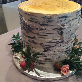 Birch Tree Grooms cake