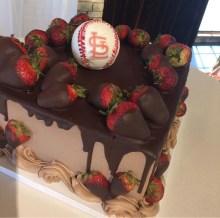 ST. Louis cardinals grooms cake