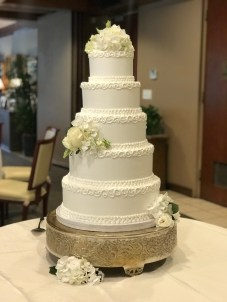 piped scrolls at Tulsa Country Club