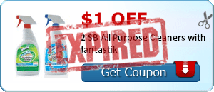 $1.00 off 2 SB All Purpose Cleaners with fantastik