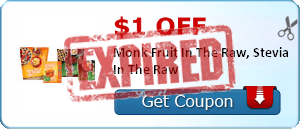 $1.00 off Monk Fruit In The Raw, Stevia In The Raw