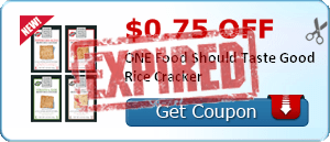 $0.75 off ONE Food Should Taste Good Rice Cracker