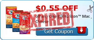 $0.55 off off any One (1) Horizon™ Mac & Cheese