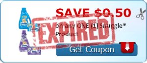 SAVE $0.50 on any ONE (1) Snuggle® Product