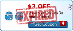$3.00 OFF ANY abreva® Product (2g Pump or Tube)