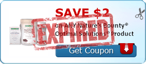 SAVE $2.00 on ANY Nature's Bounty® Optimal Solutions® Product