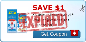 SAVE $1.00 on ANY Children's Advil® Product (excludes 1oz Suspension)