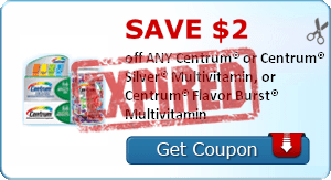 SAVE $2.00 off ANY Centrum® or Centrum® Silver® Multivitamin, or Centrum® Flavor Burst® Multivitamin