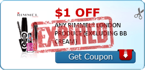 $1.00 OFF ANY RIMMEL® LONDON PRODUCT (EXCLUDING BB CREAM)