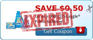 SAVE $0.50 On any ONE (1) Snuggle® Fabric Softener