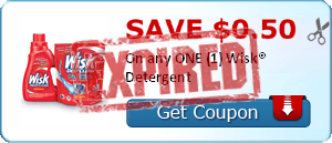 SAVE $0.50 On any ONE (1) Wisk® Detergent